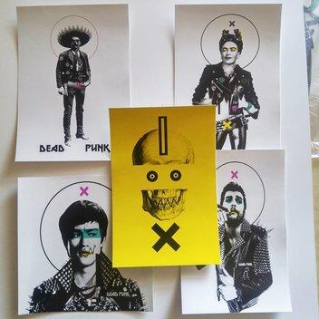 Free Dead Punk stickers