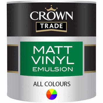 Free 1 litre pack of Crown Trade Matt Vinyl Emulsion