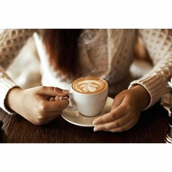 Sample Café-style cappuccino for free