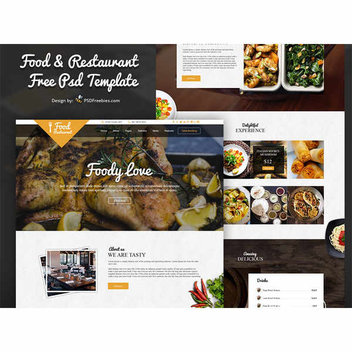 Free food & restaurant PSD template