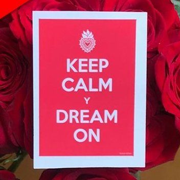 Free Keep Calm Y Dream On stickers