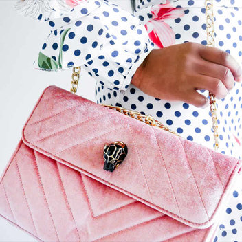 Accessorize with a free Pink Quilted Shoulder Handbag