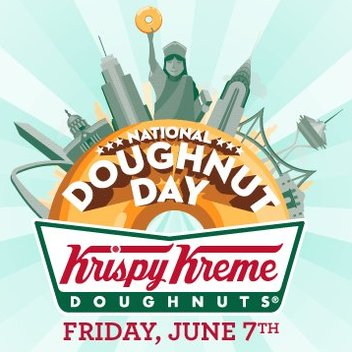Enjoy a free Krispy Kreme on National Doughnut Day