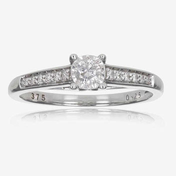 Win a 9ct White Gold .25ct diamond ring