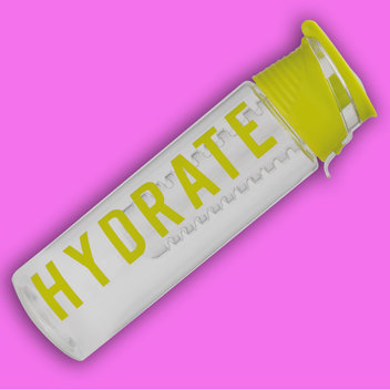 Hydrate with a free reusable water bottle