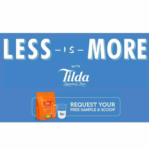 Free samples of Tilda Basmati Rice & Scoop for caterers