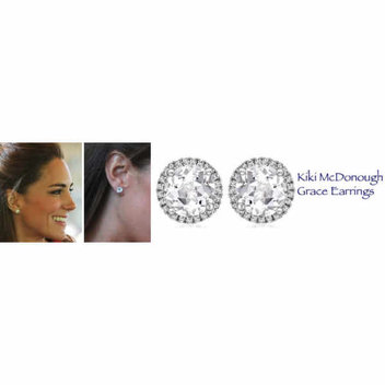 Win a Pair of Kiki McDonough Grace White Topaz Stud Earrings with sheerluxe.com