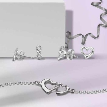 Win a pair of sterling silver Entwined Open Heart Studs