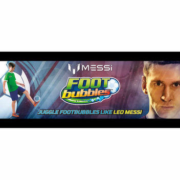 15 free Messi Foot Bubbles kits for kids