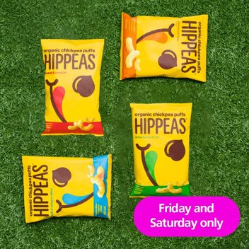 Enjoy a free pack of Hippeas from O2 Priority