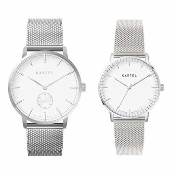 Win His N' Hers Silver Mesh watches