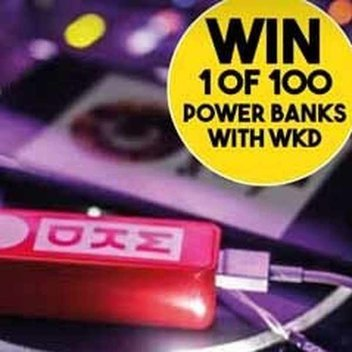 100 free power banks with WKD