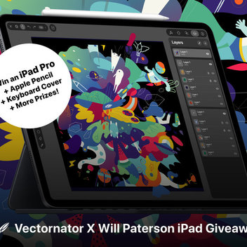 Vectornator X Will Paterson iPad Pro Giveaway