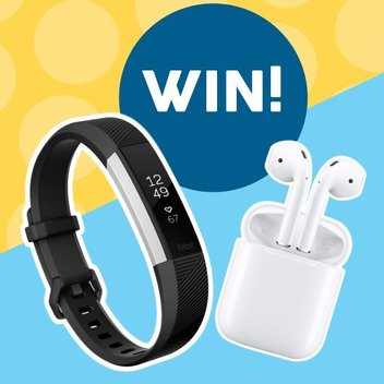 Keep fit with a free pair of Apple Airpods & a Fitbit Alta watch