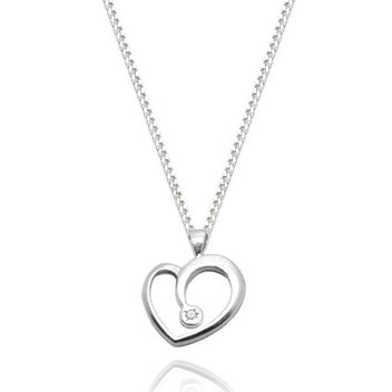 Score a free Sterling Silver & Diamond Heart necklace