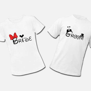 Free Printable Disney Bride & Groom T-Shirt Transfers