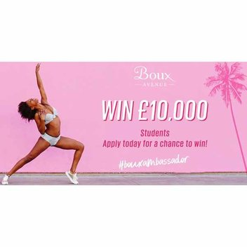 Become a Boux Ambassador and win £10,000