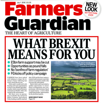 Claim 2 free copies of Farmers Guardian