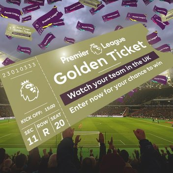 50 pairs of Premier League tickets up for grabs