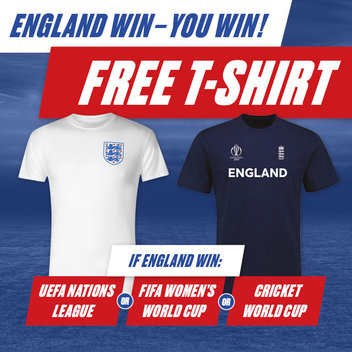 Take home a free England T-shirt