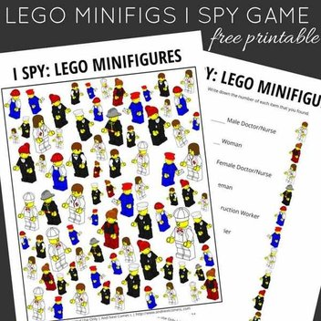 Free LEGO Mini Fig Printable for Kids