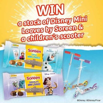 Win a children's scooter & stack of Soreen