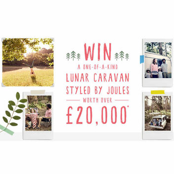 Win a one of a kind Lunar Caravan styled by Joules worth over £20,000