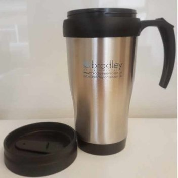 Get your free stainless steel travel mug