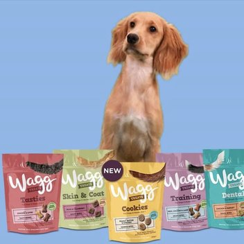 Claim a free bag of Wagg Dog Treats