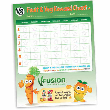 Free Fruit & Veg Reward Chart for children