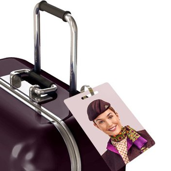Pick out a free personalized luggage tag