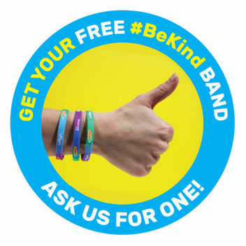 Support Anti-bullying with a free BeKind band