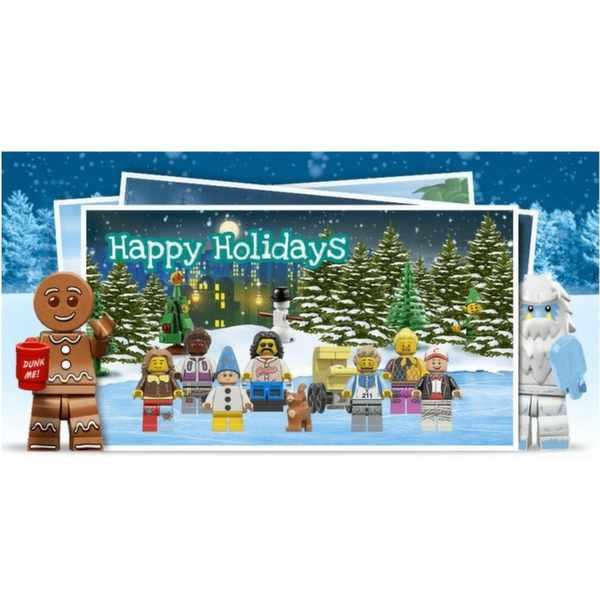 Free LEGO Christmas postcards