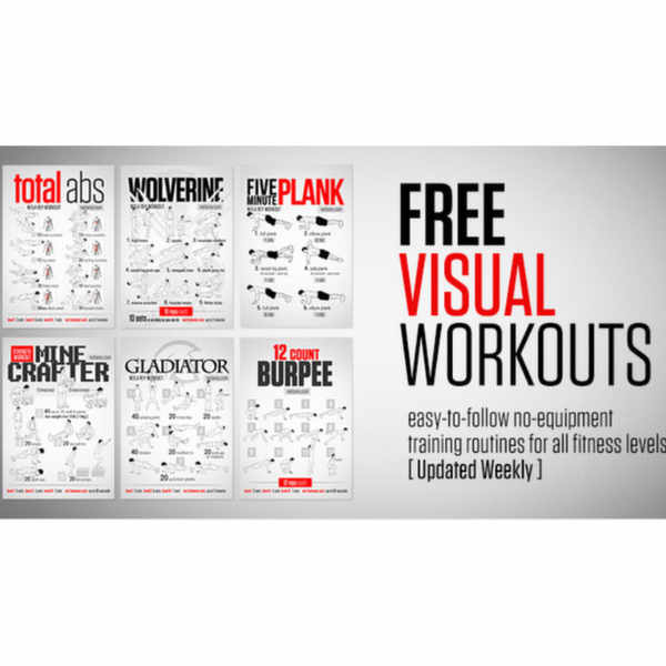 Free Visual Workout Posters by Neila Rey