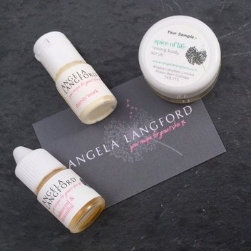 Score free Angela Langford Skincare samples