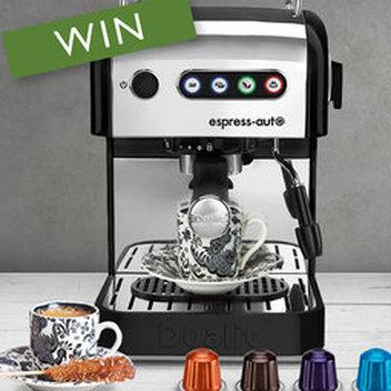 Win an Espresso Set, Dualit Espress-Auto & Aluminium Coffee Capsules