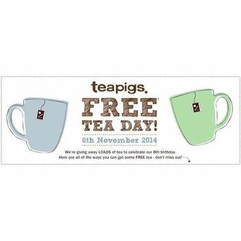Teapigs Free Tea Day