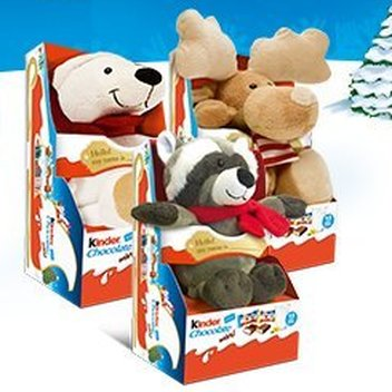 Cuddle up to a free Kinder Fluffy Toy