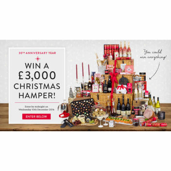 Win a £3000 Christmas Hamper from Virginia Hayward