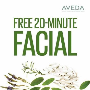 Treat yourself to a free 20-minute facial & gift from Aveda
