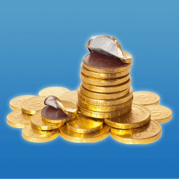 Redeem a free net of chocolate coins