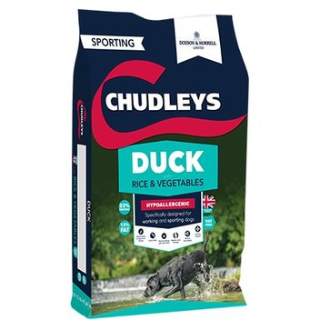 Claim a free Chudleys Duck dog food sample