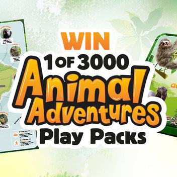 3,000 Animal Adventures play packs up for grabs