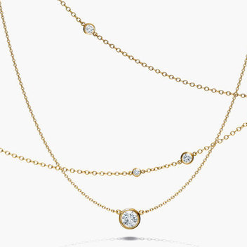 Win a White Gold Diamond Cluster Necklace