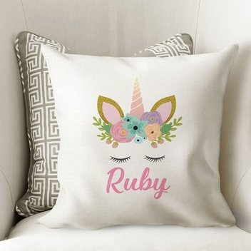 Free Personalised Unicorn Cushion