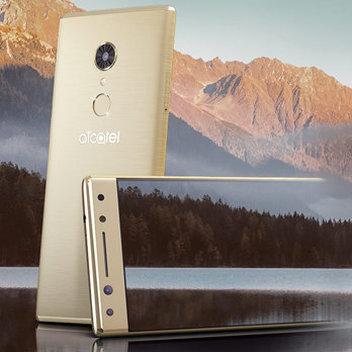 Win a metallic gold Alcatel 5 smartphone