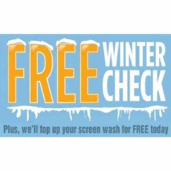Free winter car check at Halford's