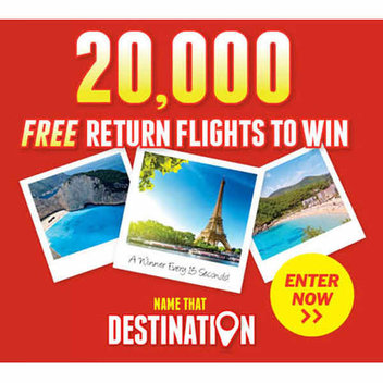 20,000 free return flights