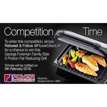 Win a George Foreman Grill with Power Direct