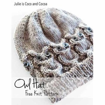 Free Owl Hat Knit Pattern | FreebieFinder UK | Freebies, Samples